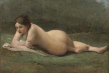 Jean-Baptiste Camille Corot, Giovane donna distesa sull'erba   Jeune femme étendue sur l'herbe