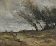 Jean-Baptiste Camille Corot, Il colpo di vento | Le coup de vent | The gust of wind