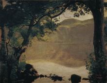 Corot, Il lago di Nemi | Der Nemisee | Le lac de Nemi | The Nemi Lake