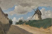 Jean-Baptiste Camille Corot, Il mulino a vento | Le moulin à vent | Møllen | The windmill | Møllen