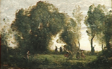 Jean-Baptiste Camille Corot, La danza delle ninfe | La danse des nymphes [1860 circa]