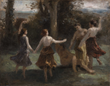 Jean-Baptiste Camille Corot, La danza delle ninfe | La danse des nymphes | Nymfernes dans | Dancing nymphs