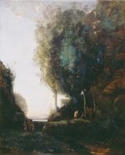 Jean-Baptiste Camille Corot, La festa di Bacco (La sera) | La fête de Bacchus (Le soir) | Das Fest des Bacchus (Abend)