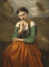 Jean-Baptiste Camille Corot, La meditazione | La méditation