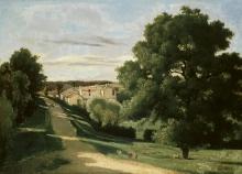 Jean-Baptiste Camille Corot, Le Petit Chaville, presso Ville d'Avray | Le Petit Chaville, près de Ville d′Avray | Le Petit Chaville, near Ville d′Avray
