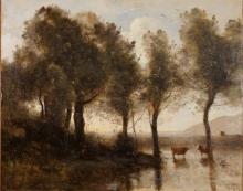 Corot, Lo stagno, ricordo delle paludi del Beauvaisis.jpg