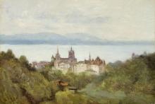 Corot, Losanna e il lago Lemano | Lausanne et le lac Léman | Lausanne et Lake Geneva | Lausanne und der Genfer See