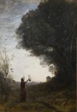 Jean-Baptiste Camille Corot, Orfeo che saluta l'alba | Orpheus greeting the dawn
