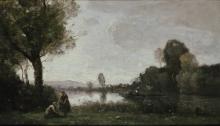 Jean-Baptiste Camille Corot, Paesaggio fluviale (La Senna nei pressi di Chatou) | Flußlandschaft (Die Seine bei Chatou)