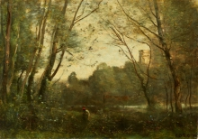 Jean-Baptiste Camille Corot, Ricordo di Pierrefonds | Erinnerung an Pierrefonds
