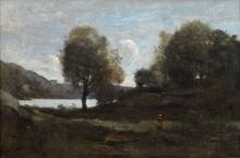 Jean-Baptiste Camille Corot, Ricordo di uno stagno nella regione di Limoges | Souvenir d'un étang du Limousin | Erindring om en dam i Limoges-egnen | Memory of a pond in the Limoges area