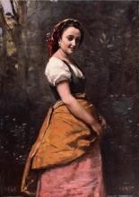 Jean-Baptiste Camille Corot, Ritratto di donna nel bosco