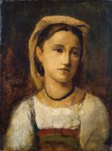 Corot, Ritratto di una ragazza italiana | Bildnis eines italienischen Mädchens | Portrait of an Italian girl