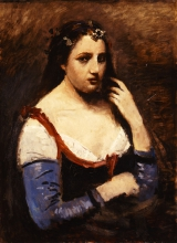 Jean-Baptiste Camille Corot, Signora con margherite | Dame aux marguerites