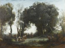 Jean-Baptiste Camille Corot, Una mattinata. La danza delle ninfe   Une matinée, la danse des nymphes