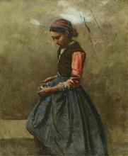 Corot, Una ragazza pensosa.jpg