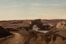 Corot, Veduta della Campagna romana | Vue de la Campagne Romaine | View of the Campagna near Rome