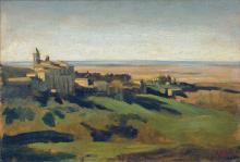 Corot, Veduta di Marino nei Colli Albani al mattino presto | Blick auf Marino in den Albaner Bergen am frühen Morgen | View of Marino in the Alban Hills in the early morning