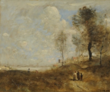 Corot, Ville d'Avray (Paesaggio e figure) | Ville d'Avray (Paysage et figures) | Ville d'Avray (Landscape and figures)
