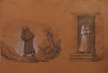 Giovanni (Nino) Costa, Frate viandante, madre e bambino sulla porta di casa