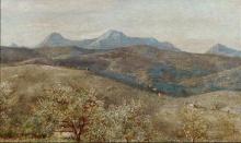 Costa, Paesaggio primaverile con il Monte Catria sullo sfondo.jpg