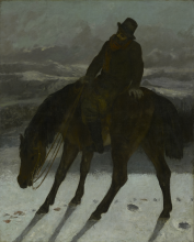 Courbet, Cacciatore a cavallo.png