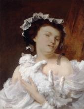 Courbet, Donna con un gatto.jpg