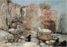 Courbet, Effetto di neve in una cava.png