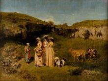 Courbet, Giovani signore del villaggio.jpg