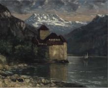 Courbet, Il castello di Chillon [1874-1875 circa].png