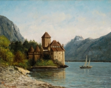 Courbet, Il castello di Chillon, sera.jpg