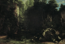 Courbet, Il ruscello ombreggiato | Der schattige Bach | Le ruisseau ombragé | The shady stream