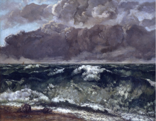 Gustave Courbet, L'onda | La vague | Die Welle | The wave