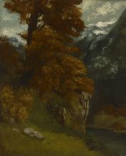 Courbet, La gola a Ornans.png