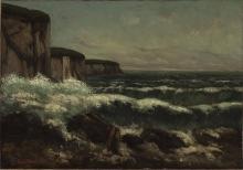 Gustave Courbet, Le falesie di Etretat   Les falaises d'Étretat   Klipperne ved Étretat