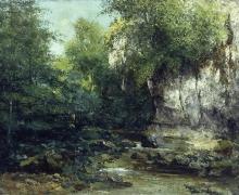 Gustave Courbet, Le rive di un ruscello | The banks of a stream