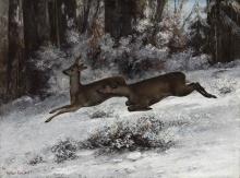 Gustave Courbet, Lo scambio, episodio di caccia al capriolo, (Franca Contea, 1866) |  Le change, épisode de chasse au chevreuil (Franche-Comté, 1866)