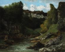Gustave Courbet, Paesaggio con rocce | Landscape with rocks