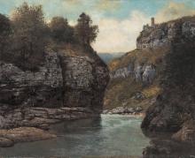 Gustave Courbet, Rocce vicino alla grotta del Loue | Rochers près de la grotte de la Loue | Felsen nahe der Grotte der Loue