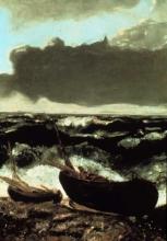 Courbet, Scena costiera. Temporale in arrivo   Scène côtier. Tempête s'approchant   Coast scene. Approaching storm