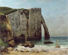 Gustave Courbet, Scogliere di Etretat | Falaises d'Étretat | Felsen von Étretat