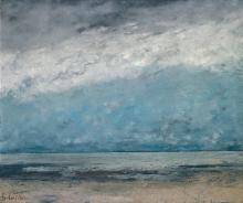 Gustave Courbet, Spiaggia marina   Meeresstrand