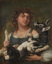 Gustave Courbet, Villanella con capra | Dorfmädchen mit Ziege