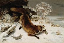 Courbet, Volpe nella neve.jpg