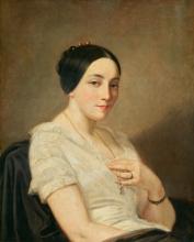 Thomas Couture, Ritratto di una giovane donna seduta | Porträt einer sitzenden jungen Frau
