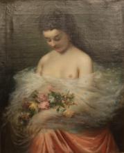 Tranquillo Cremona, Donna con fiori