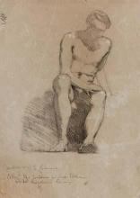 Tranquillo Cremona, Figura di uomo seduto