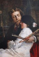 Tranquillo Cremona, Il pittore e la modella