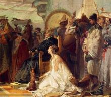 Tranquillo Cremona, Marco Polo davanti al Gran Khan dei Tartari [dettaglio]