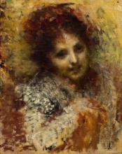 Tranquillo Cremona, Ritratto della moglie dell'artista